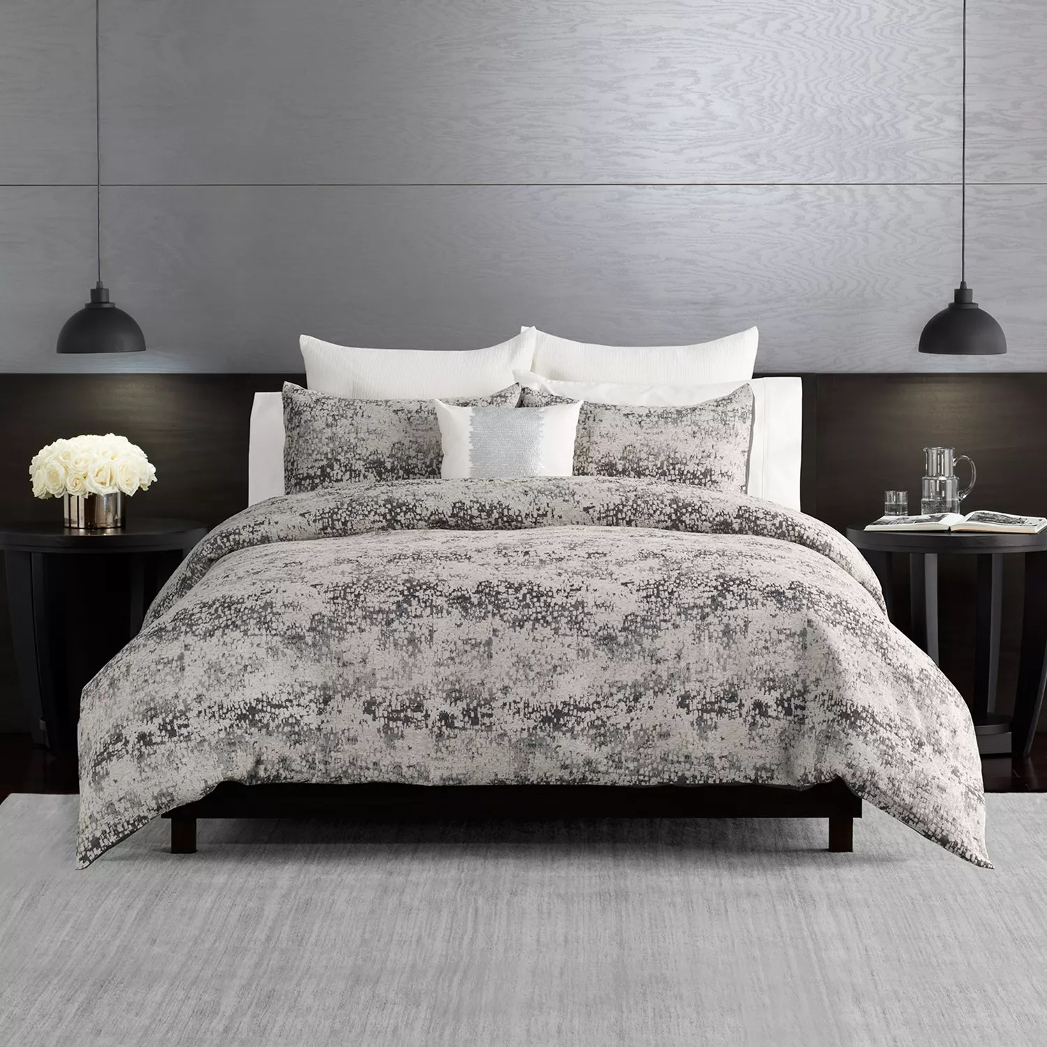 simply vera vera wang midnight chenille comforter set with shams