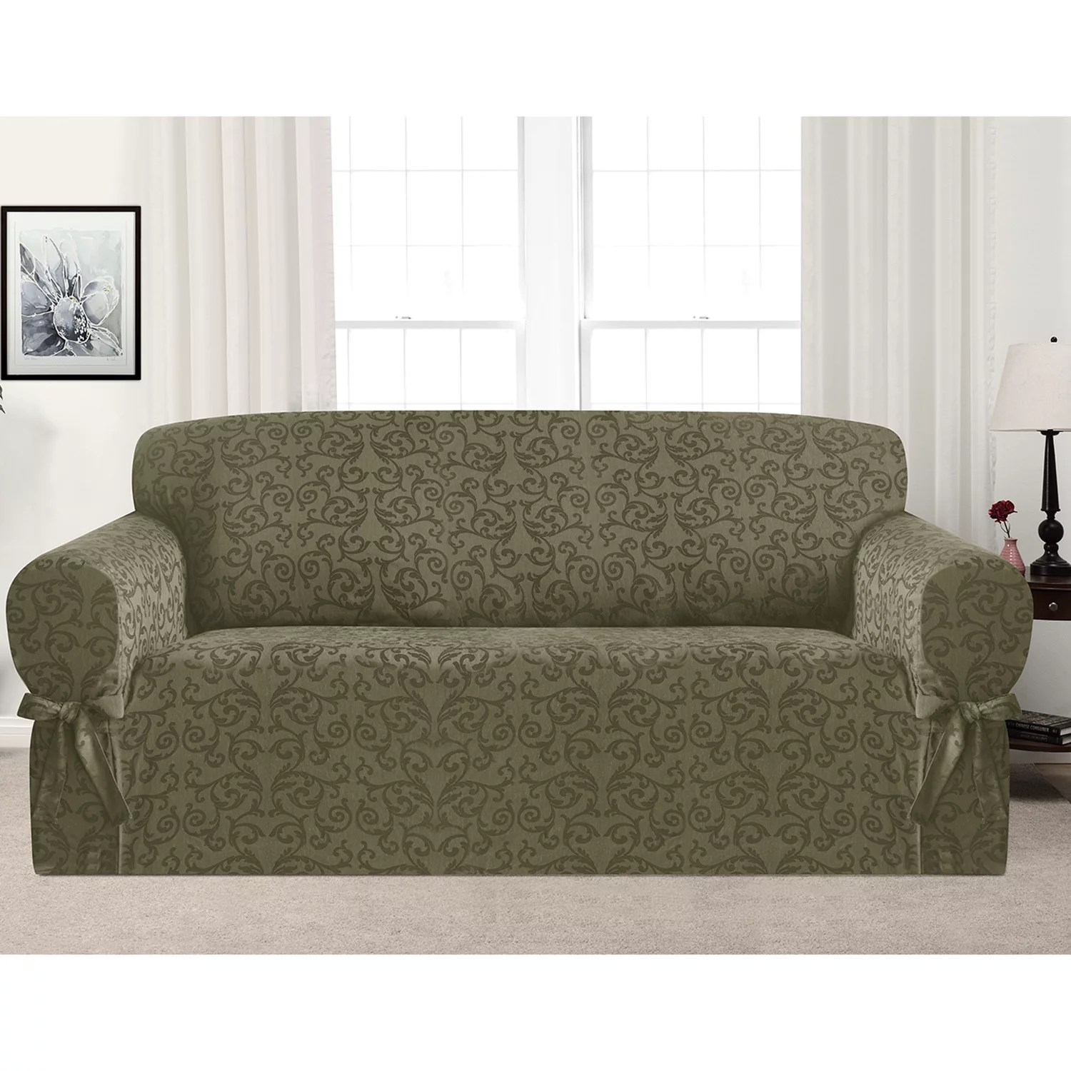armless sectional sofa pet protector dfs large corner bed slipcovers kohl s kathy ireland americana slipcover