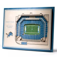 Detroit Lions 3D Stadium Wall Art