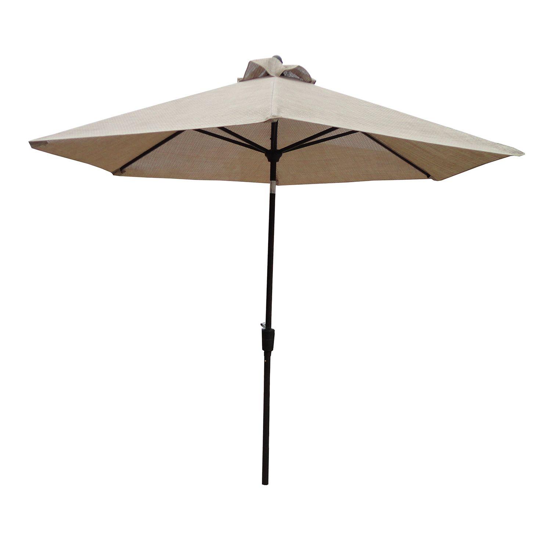 bali 8 ft vented push tilt crank patio umbrella