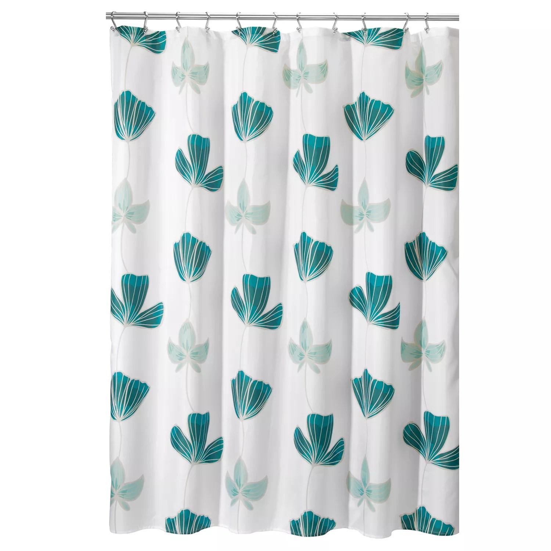 interdesign ava floral shower curtain