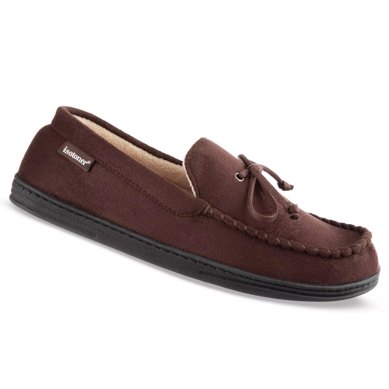 Men   isotoner microsuede moccasin slippers also moccasins kohl rh kohls
