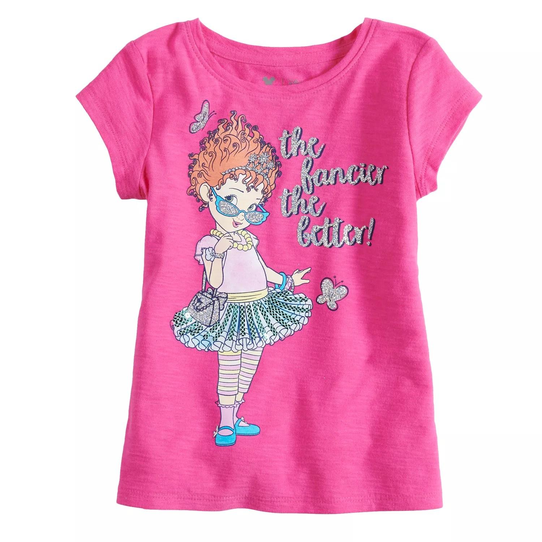 Disney   fancy nancy girls short sleeve glittery graphic tee by jumping beans also rh kohls