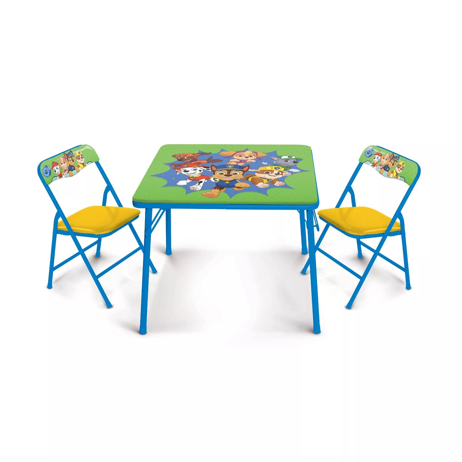 activity table and chair set wheel chairs for dogs paw patrol by jakks