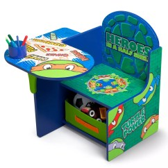 Ninja Turtles Chair Stool Making Delta Children Teenage Mutant Desk With Storage Bin