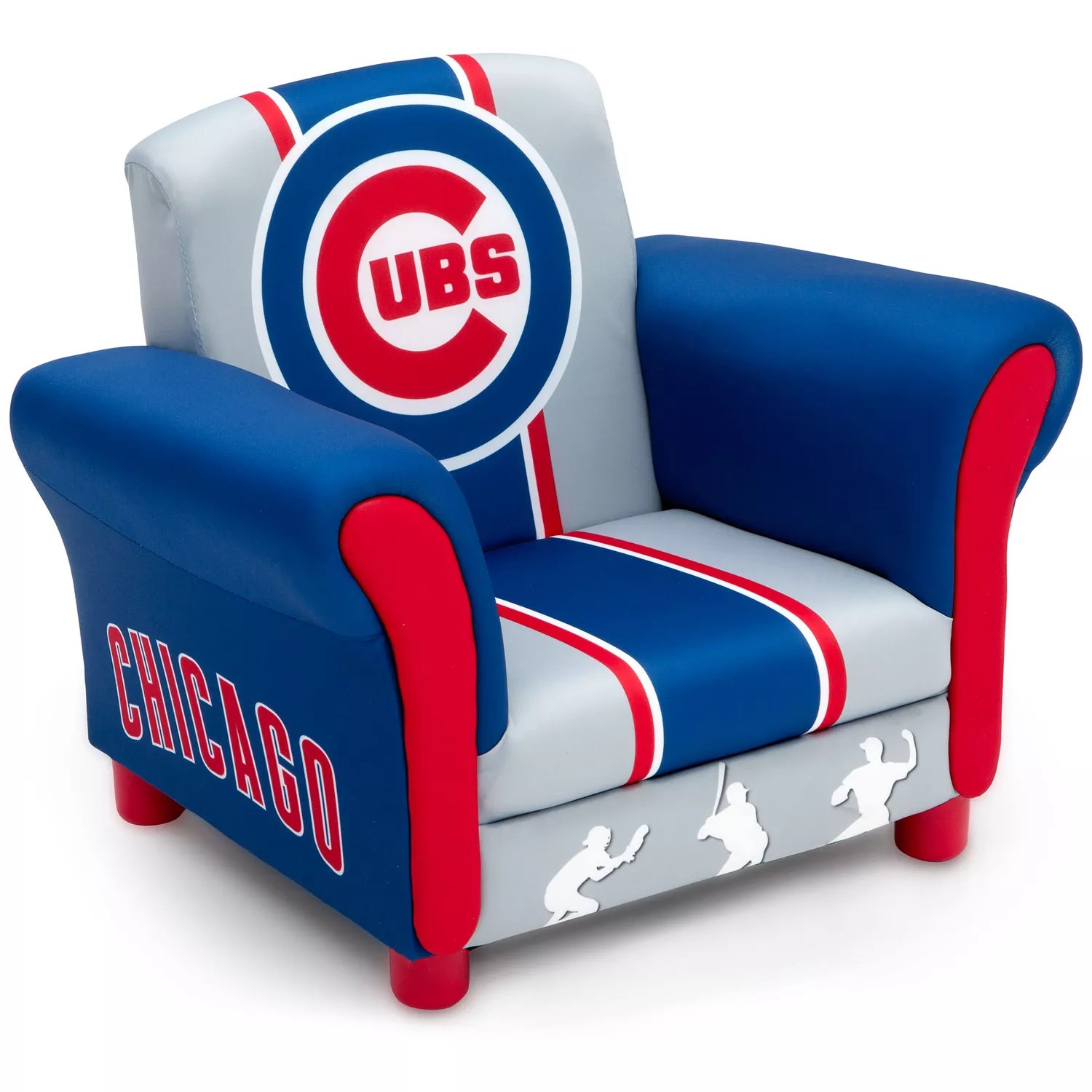 childrens upholstered chairs prima pappa high chair delta children chicago cubs kids arm