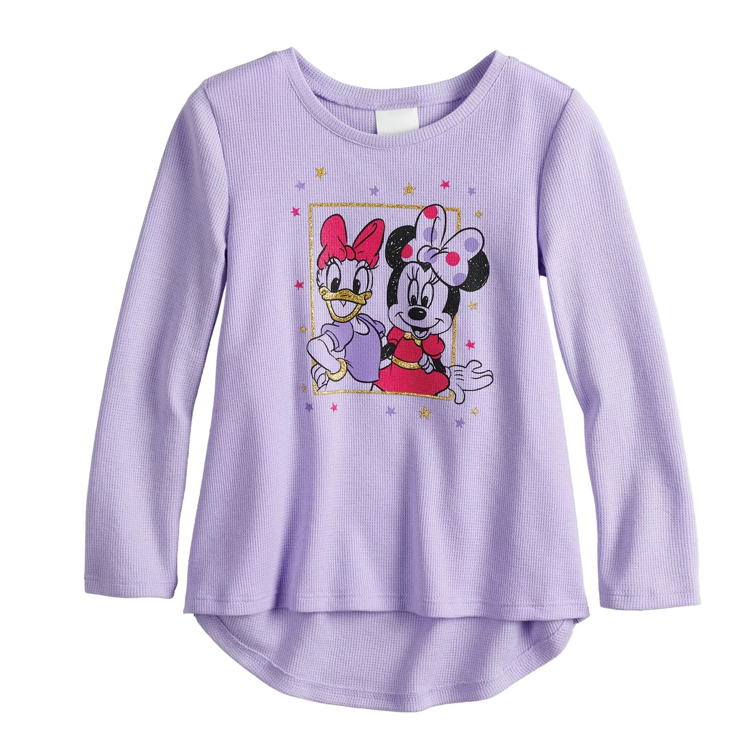 Disney   minnie mouse daisy duck toddler girl thermal graphic tee by jumping beans also rh kohls