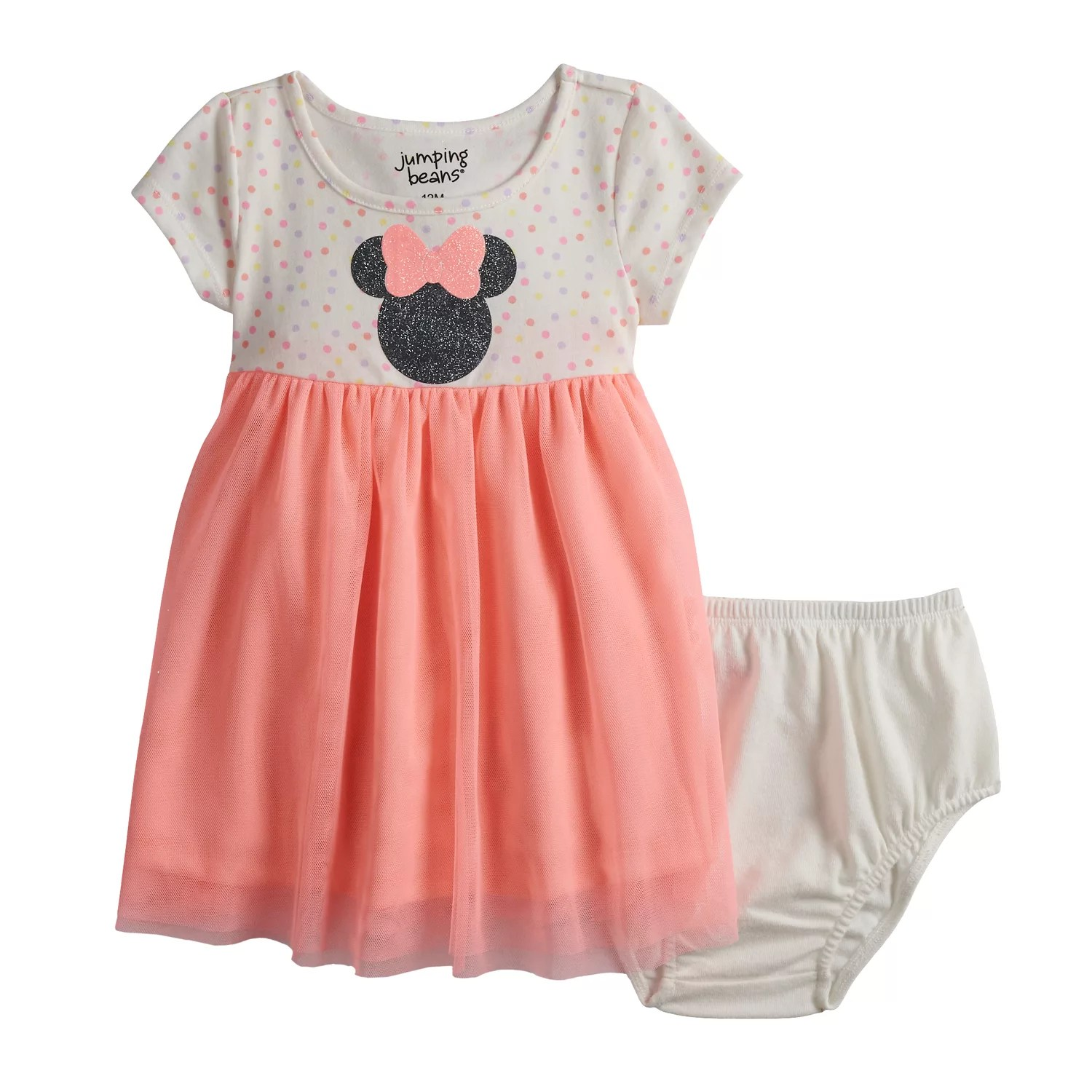 Disney   minnie mouse baby girl glittery graphic tulle dress by jumping beans also rh kohls