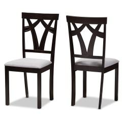 Kohls Dining Chairs Revolving Chair Half Back Grey Baxton Studio Room Furniture Modern Gray 2 Piece Set