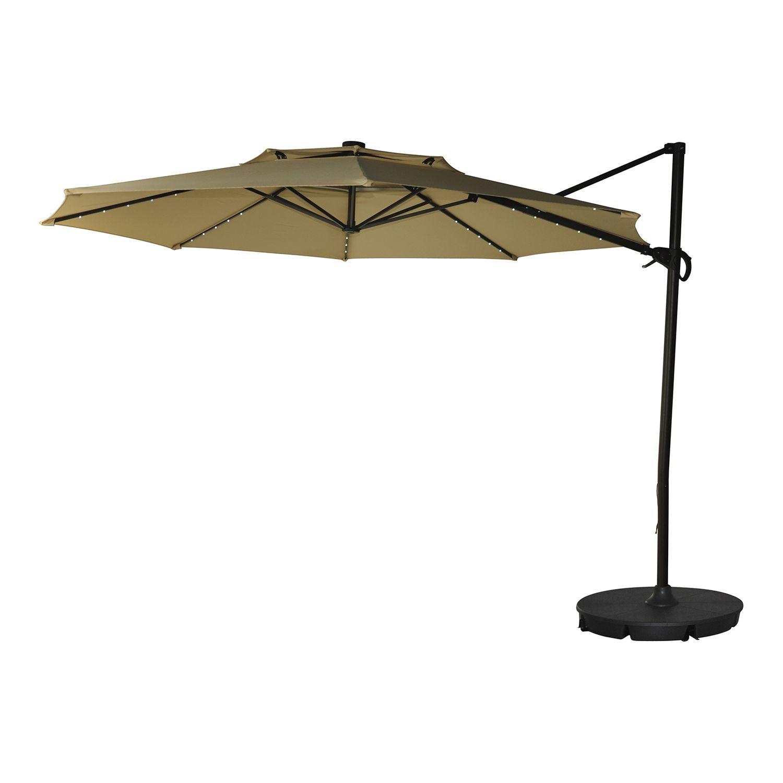 sonoma goods for life 11 ft solar led cantilever patio umbrella