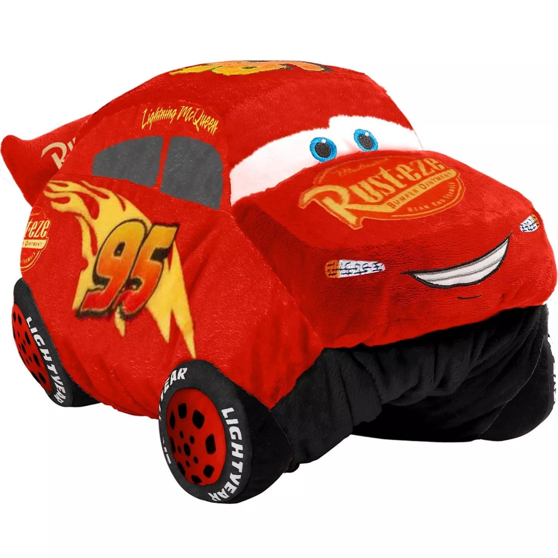 disney pixar cars 3 lightning mcqueen stuffed animal plush toy by pillow pets