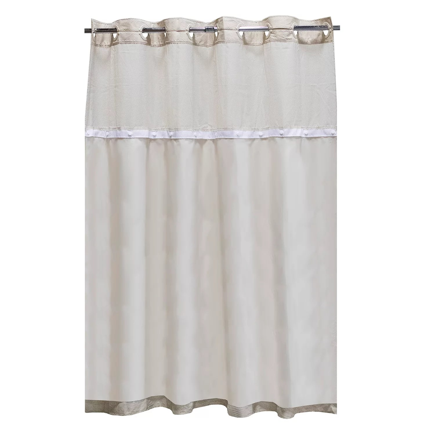 hookless it s a snap fabric shower curtain liner