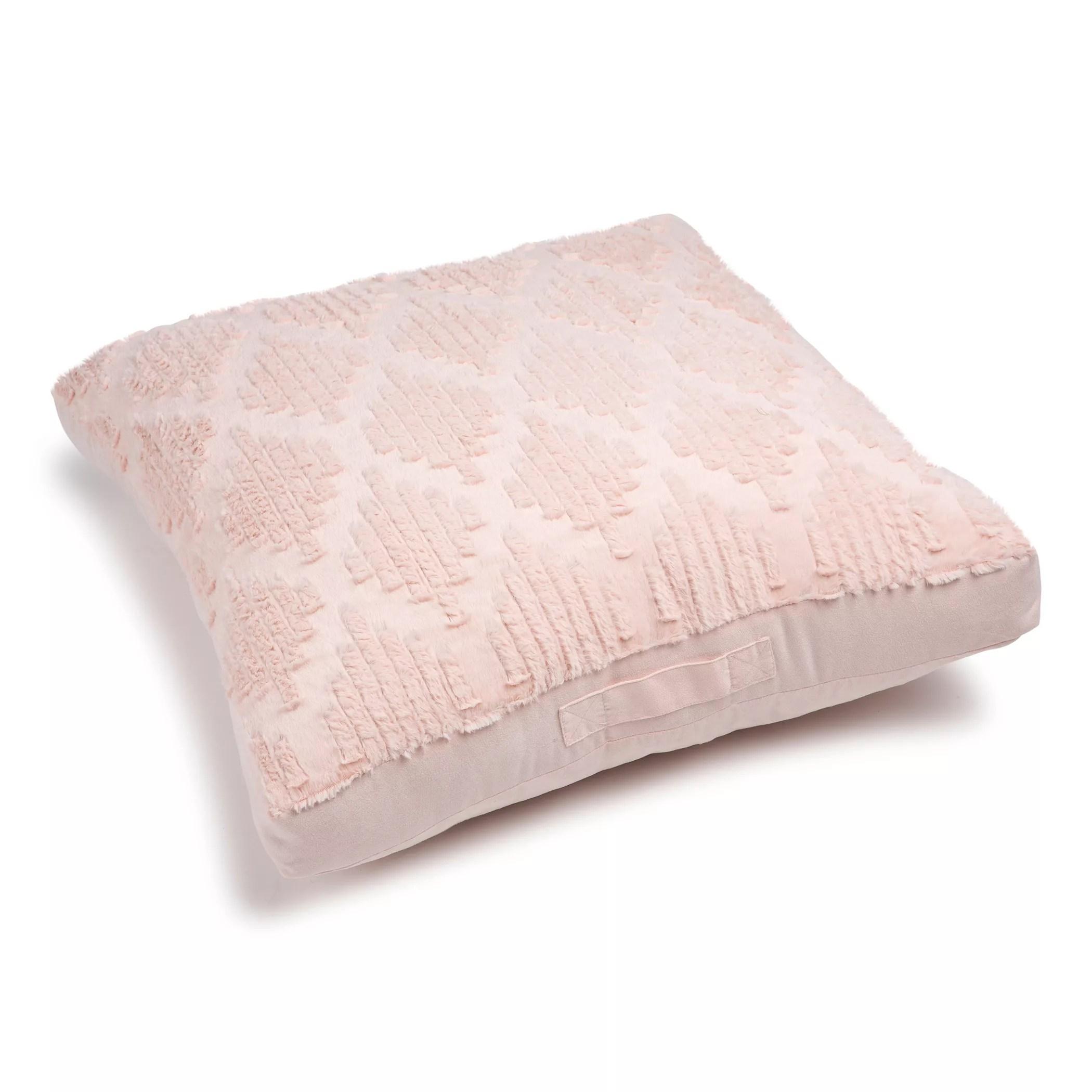 the big one diamond cut faux fur floor cushion