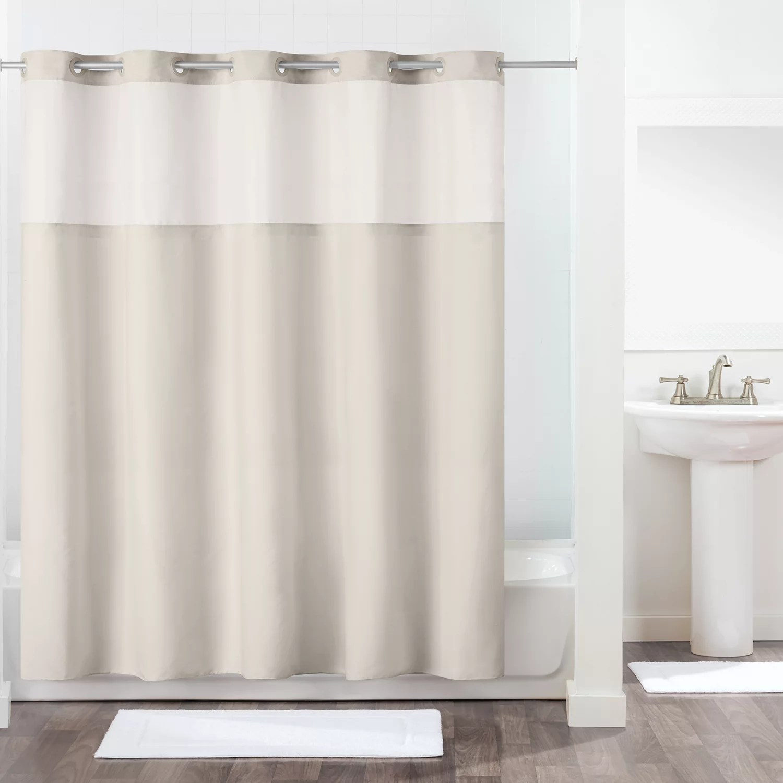 hookless antigo shower curtain liner