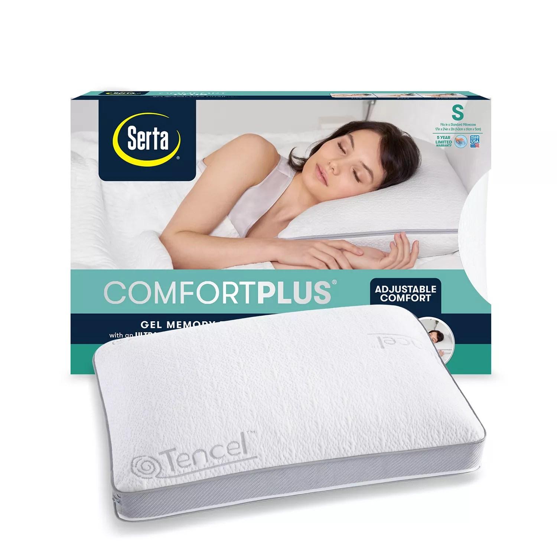 serta comfortplus gel memory foam pillow