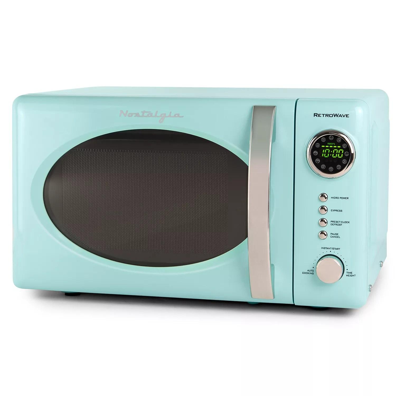 nostalgia electrics retro 700 watt countertop microwave oven