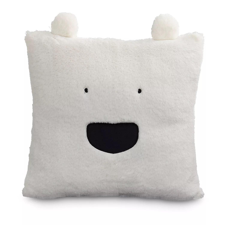 m kennedy home faux fur polar bear throw pillow