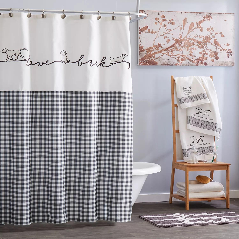 saturday knight ltd farmhouse dogs shower curtain