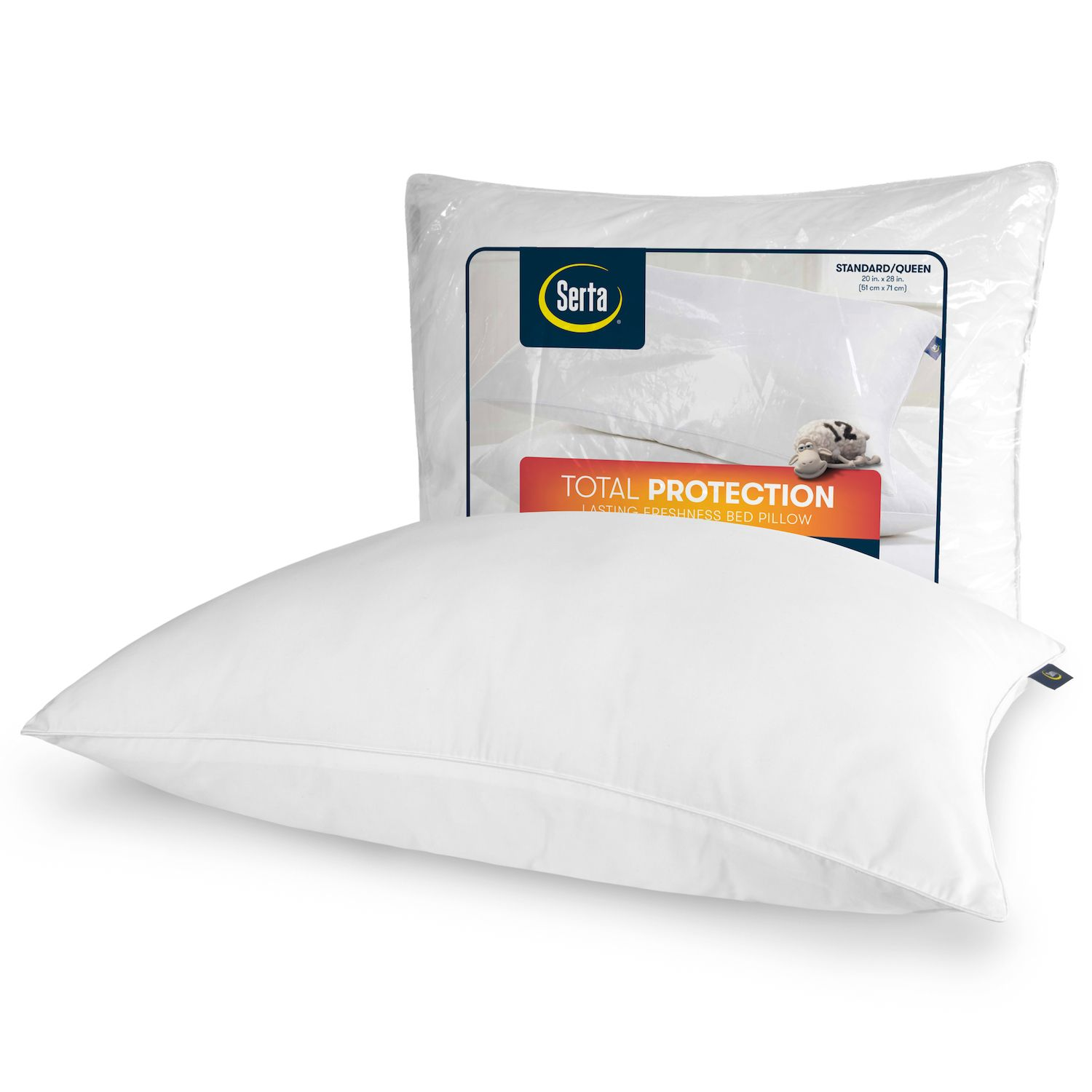 serta total protection bed pillow
