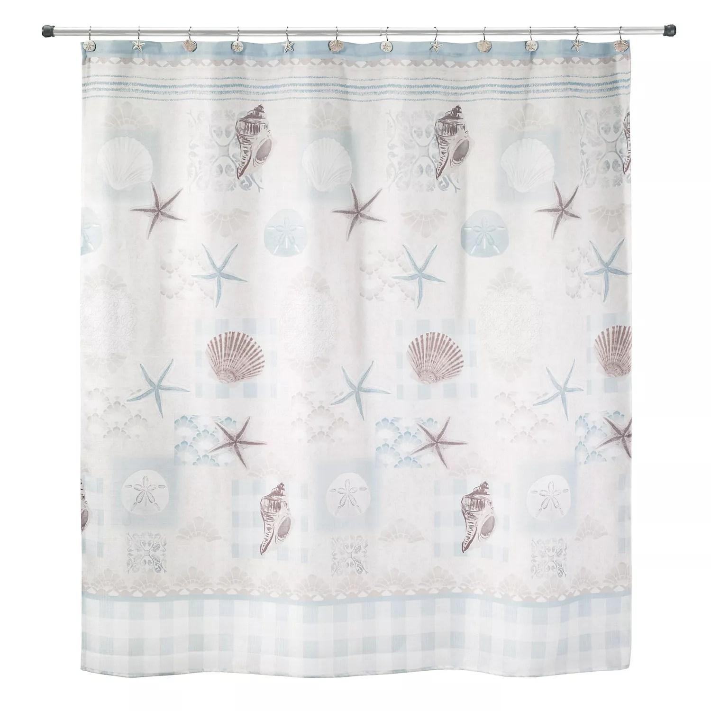 beach shower curtain coastal shower