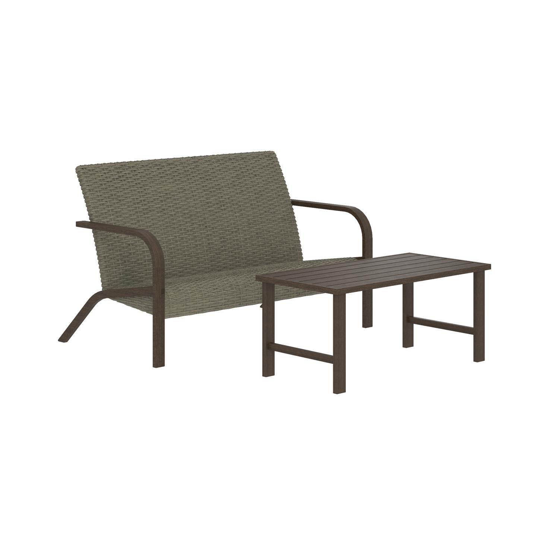 cosco outdoor living smartwick 2 piece patio furniture set
