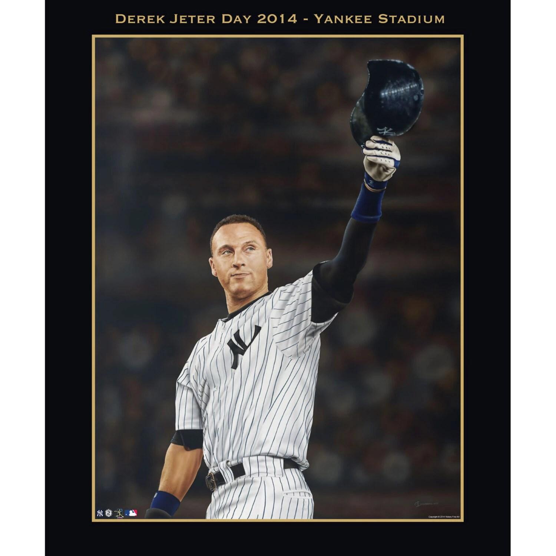 derek jeter new york yankees retirement art poster