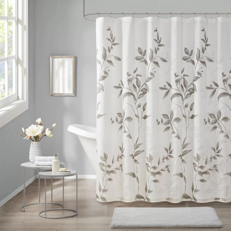 madison park vera burnout printed shower curtain
