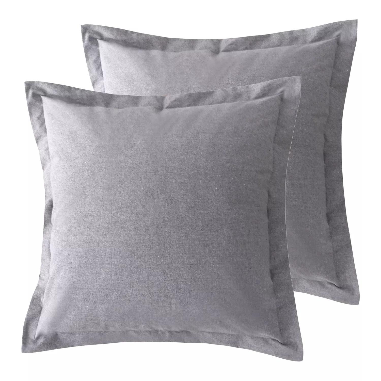 grey pillow shams bedding bed bath