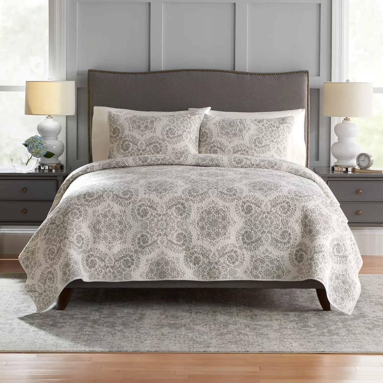 croft barrow sarah reversible cotton quilt or sham