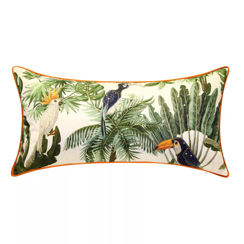 edie home reversible wild kingdom tropical lumbar decorative pillow