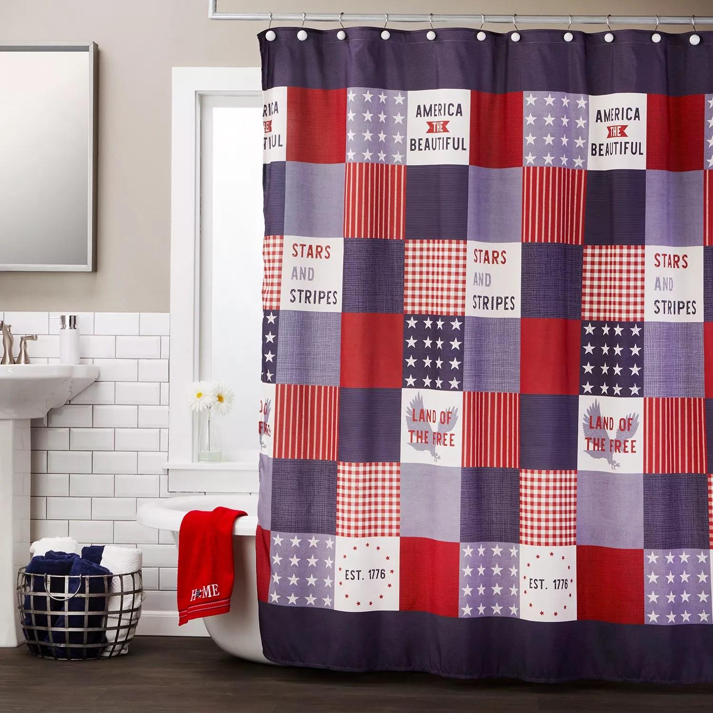 skl home americana patchwork shower curtain