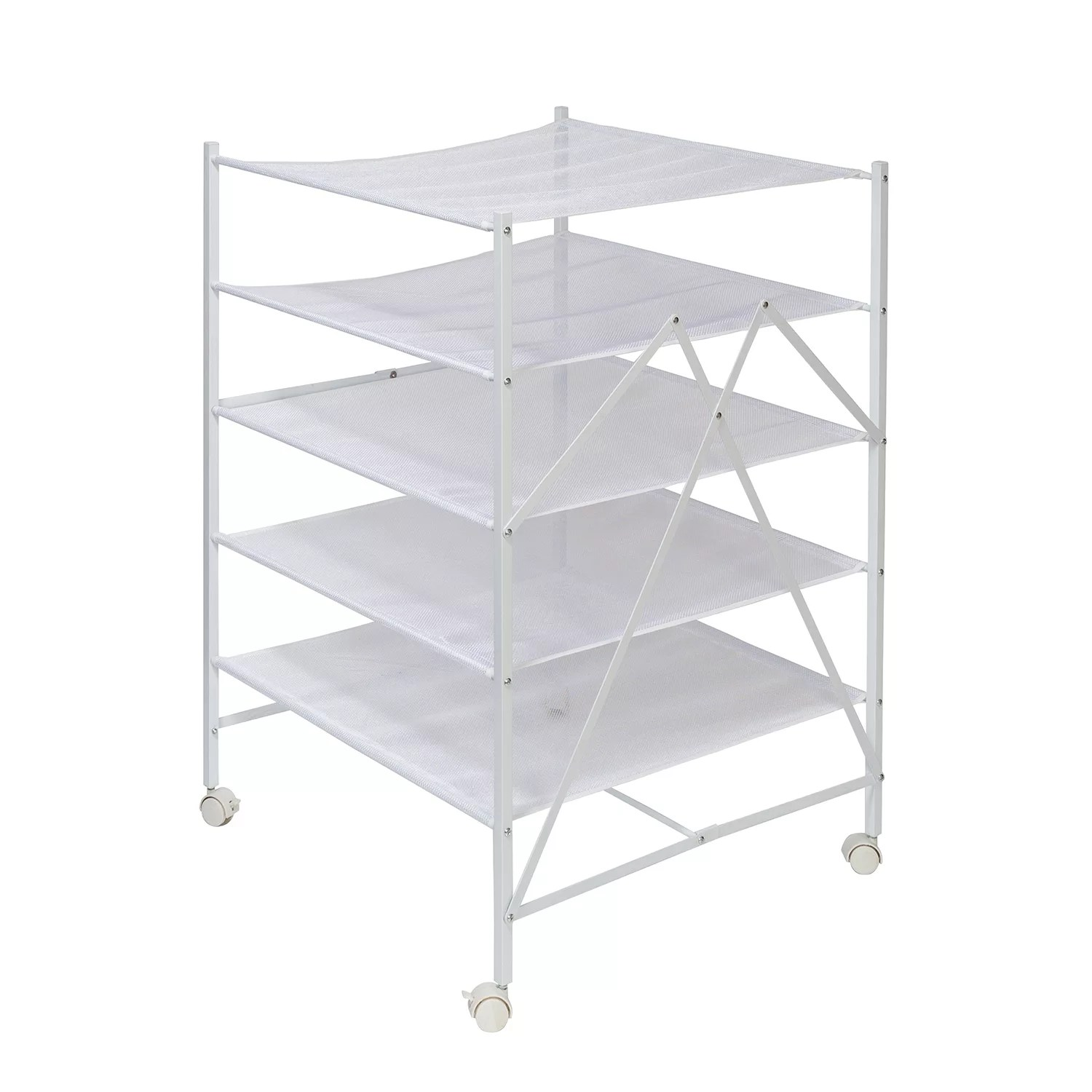 honey can do 5 tier collapsible rolling clothes drying rack