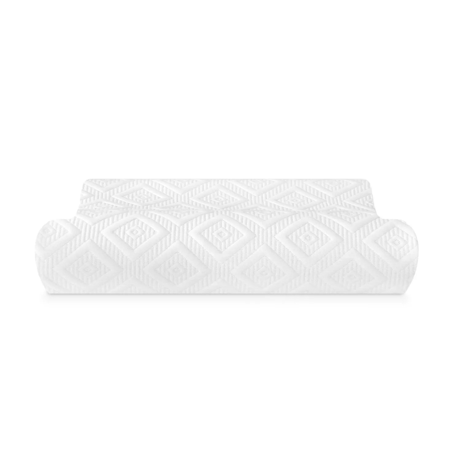 sensorpedic contour memory foam pillow for side and back sleepers
