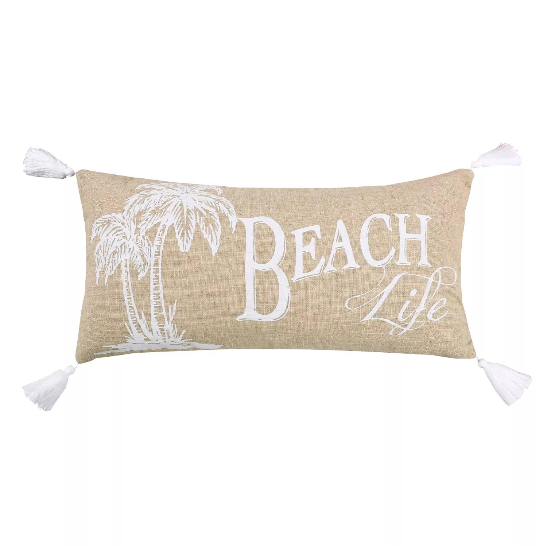 levtex home beach life palm tree throw pillow
