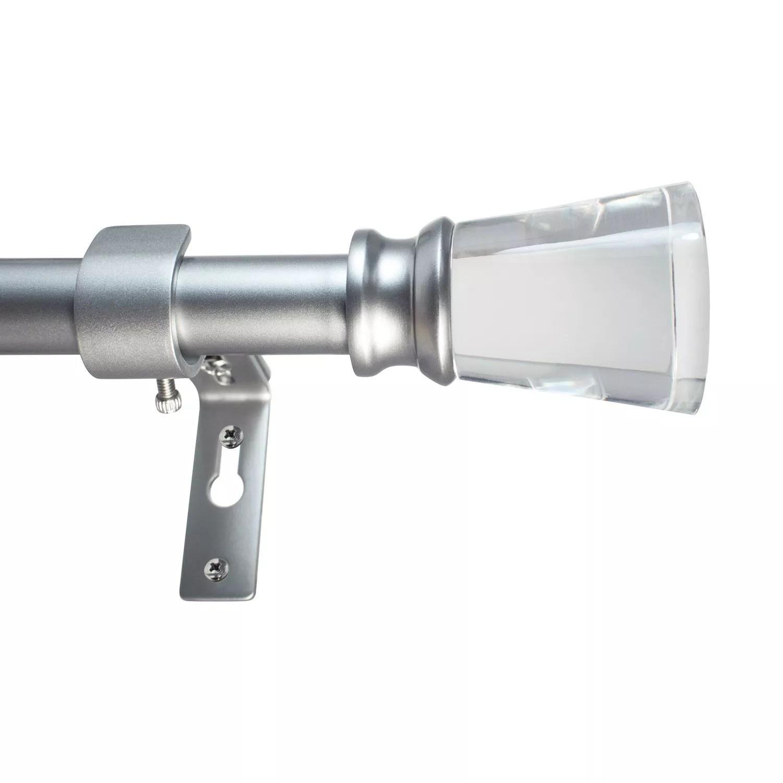 decopolitan 3 4 diameter 18 36 acrylic flare adjustable curtain rod set