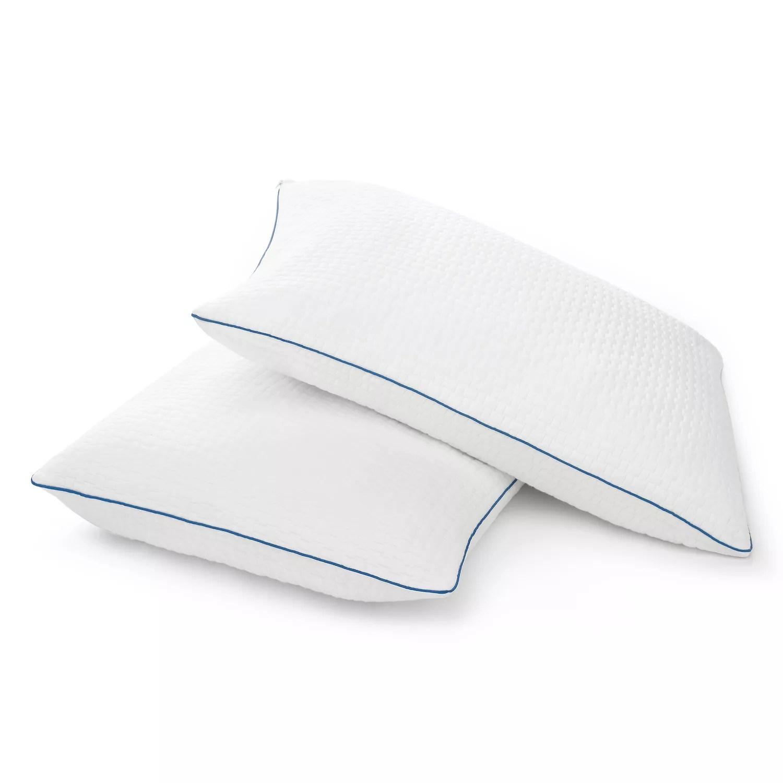 sleep innovations 2 pack premium shredded gel memory foam pillows set