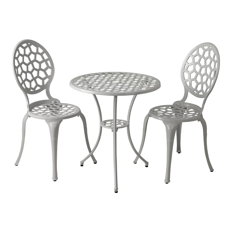 patio sense vashon outdoor dining table chair 3 piece set