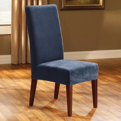 Kohls Dining Chairs Office For Lower Back Problems Blue Sure Fit Kohl S Pique Chair Slipcover
