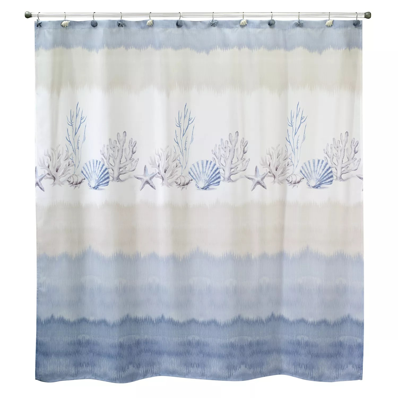 avanti abstract coastal shower curtain