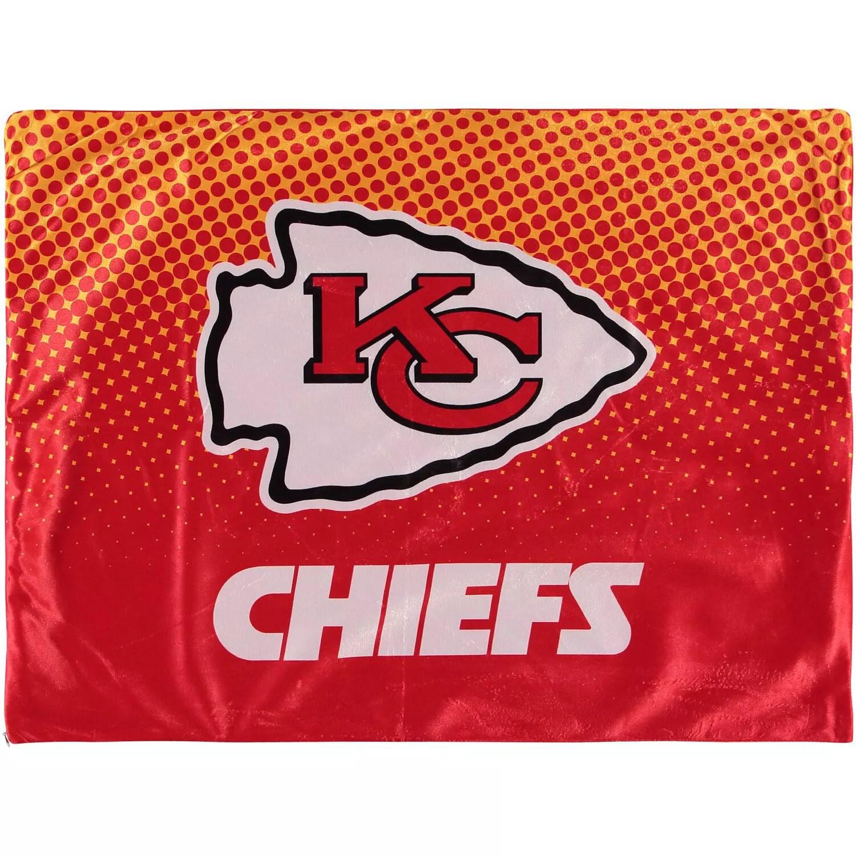 kansas city chiefs 2 pack plush dot pillow protectors