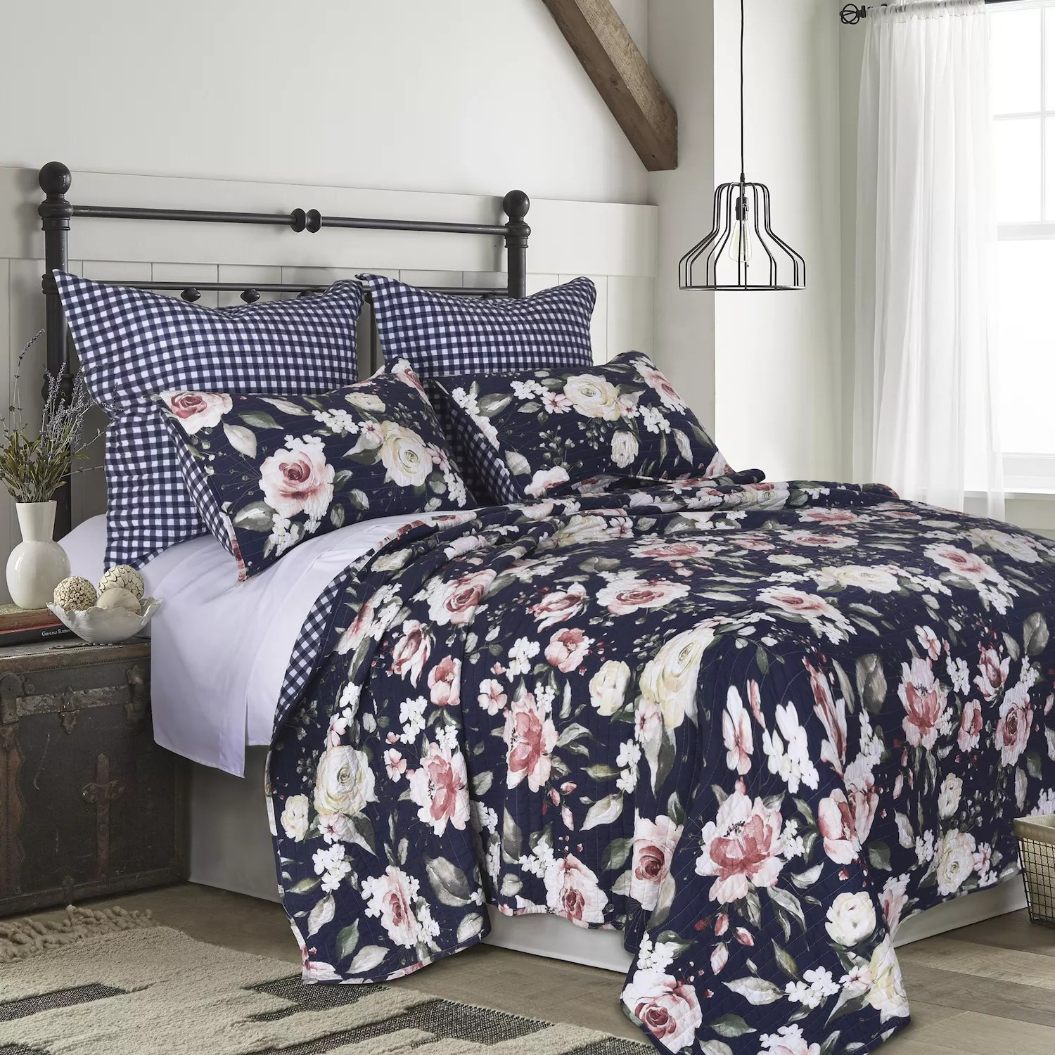 floral pillow shams bedding bed