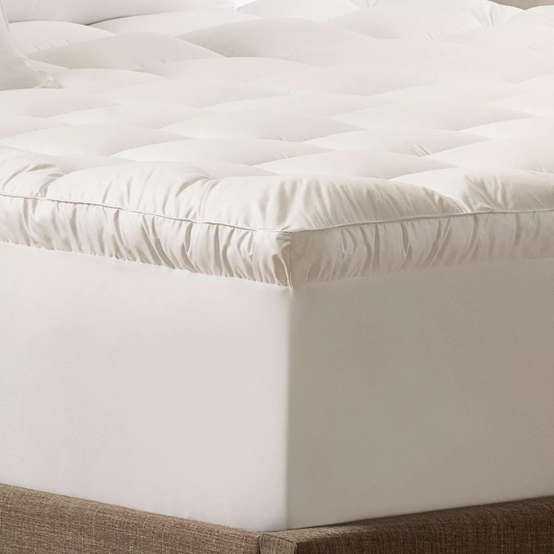 serta down antimicrobial illusion pillowtop mattress topper