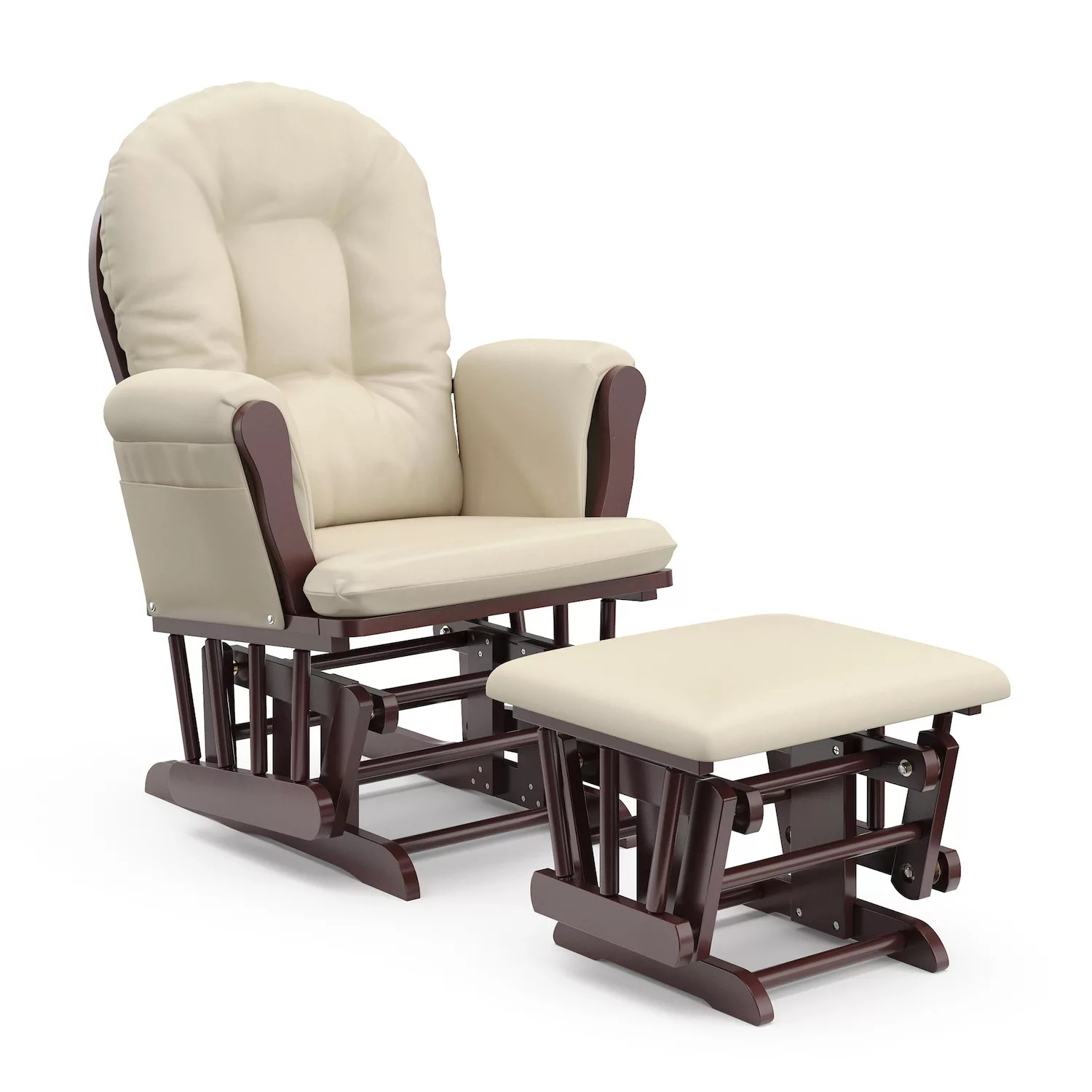 cheap glider chair wingback covers uk rocking chairs gliders nursery furniture baby gear kohl s stork craft hoop ottoman set