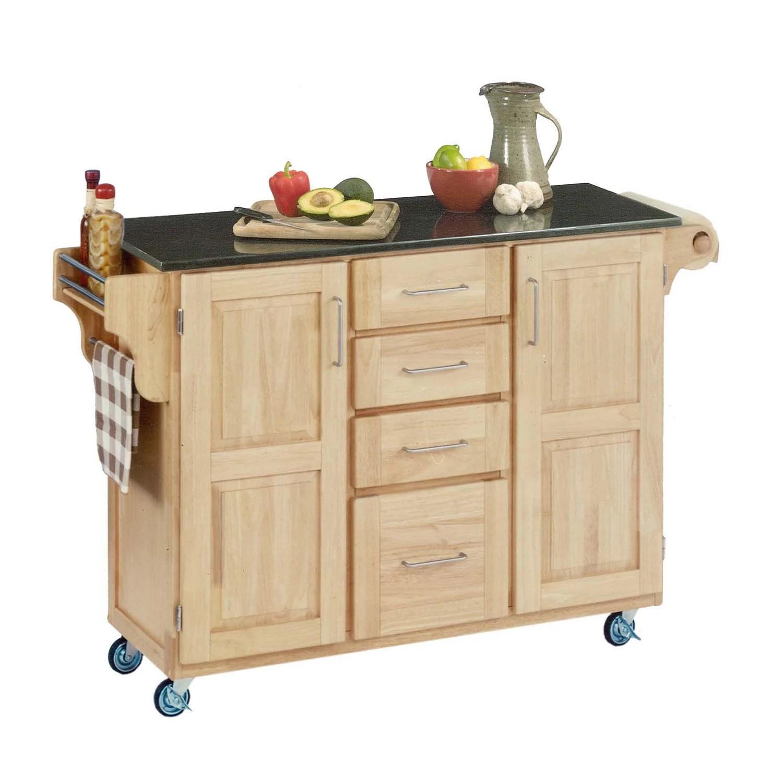 granite top kitchen cart staten island cabinets black