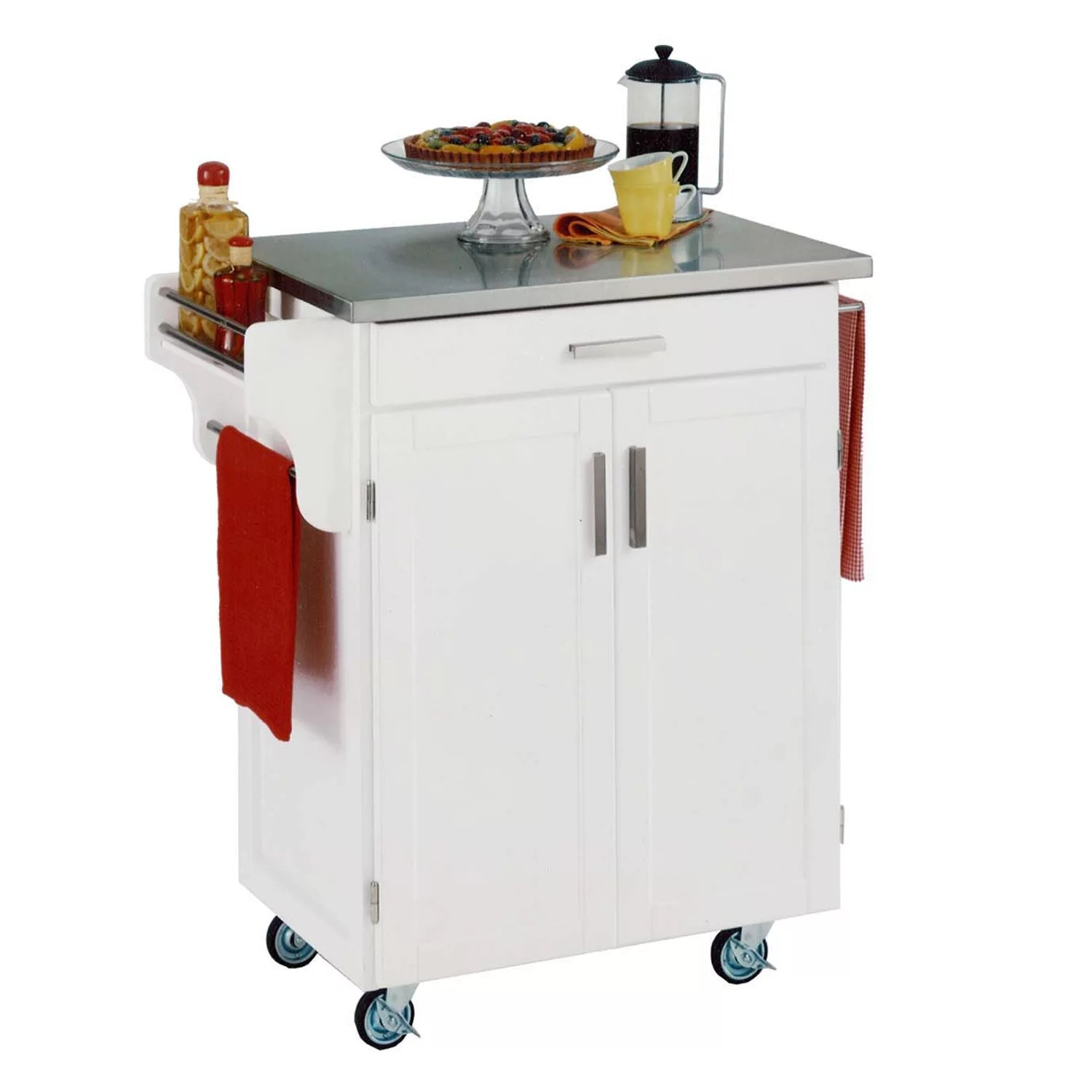 stainless steel top cuisine kitchen create a cart