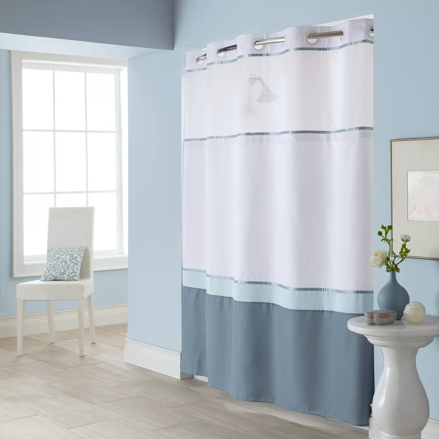 Hookless Shower Curtains Shower Curtains & Accessories Bathroom
