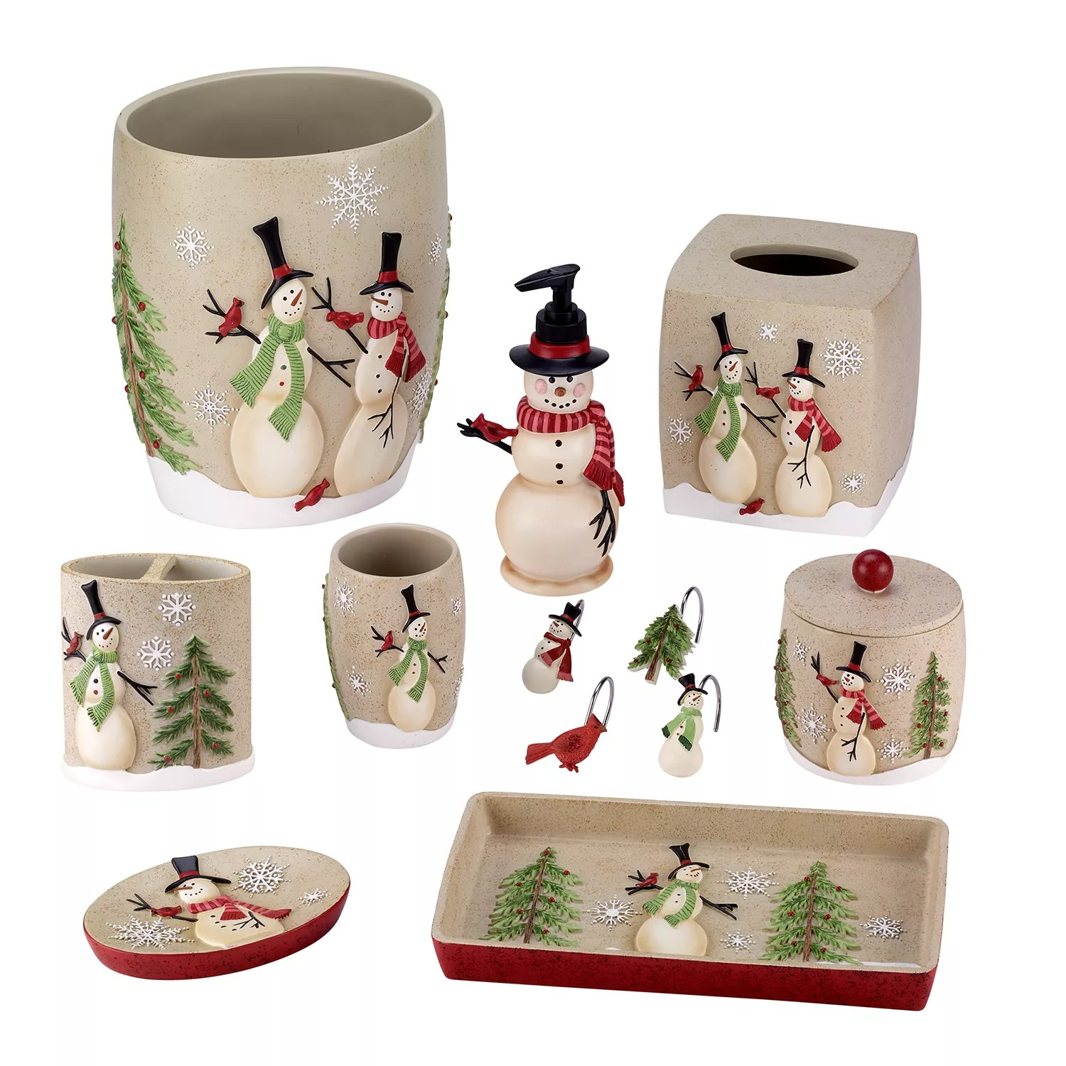 Snowman Bathroom Sets Avanti Snowman Bathroom Accessories Collection
