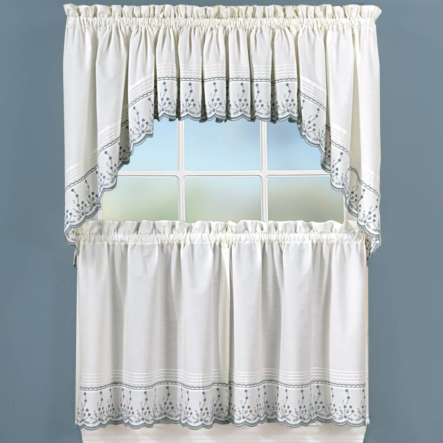 Abby Floral Kitchen Curtains