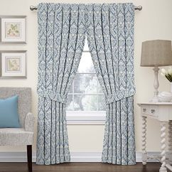 Kitchen Curtains Kohls Ikea Sink Accessories Waverly Drapes Window Treatments Home Decor Donnington Damask