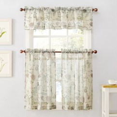 Curtains Kitchen Tiffany Blue Accessories Top Of The Window Wildflower Tier